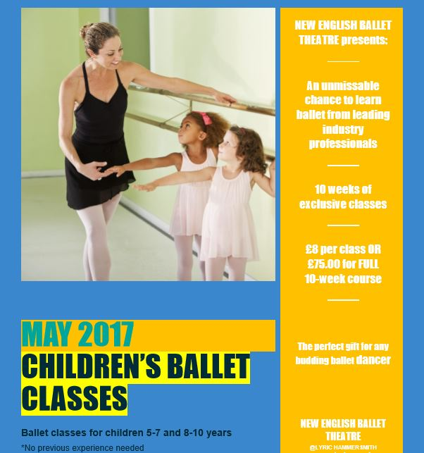 May Lyric Ballet Classes