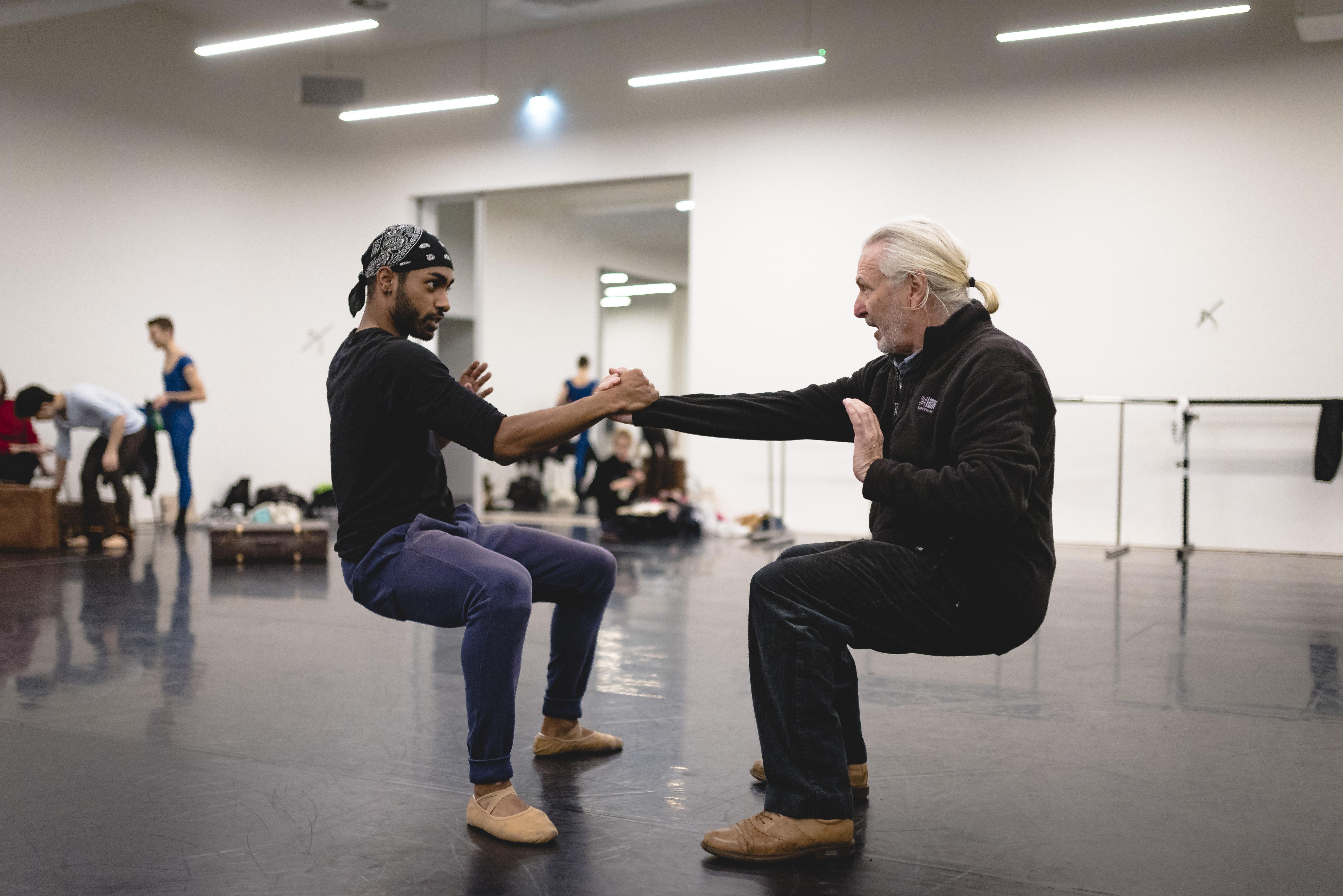 Wayne Eagling rehearsing his choreography Remembrance. Photo:  Drew Forsyth